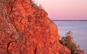 Картинка море, скала, озеро, обрыв, краски