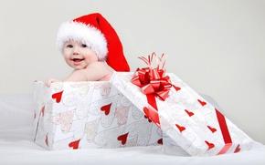 Картинка ребенок, Christmas, шапочка, winter, младенец, child, baby