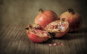 Картинка еда, обработка, фрукты, натюрморт, гранат, обои от lolita777, ретро-стиль