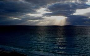 Обои море, солнце, свет