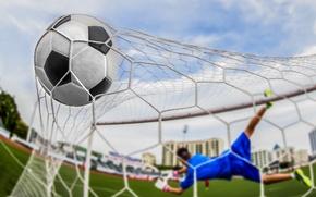 Картинка soccer, goal, ball