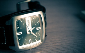 Картинка часы, бренд, Fossil, фоссил, кожаный ремень