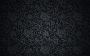 Обои ретро, узор, vector, dark, black, орнамент, vintage, texture, винтаж, background, pattern, gradient