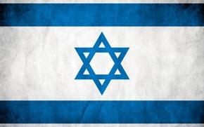 Обои флаг, белый, израиль, звезда Давида, голубой