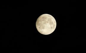 Картинка космос, ночь, луна