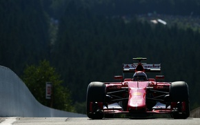 Картинка Феррари, Ferrari, Formula 1, Kimi Raikkonen, SF15T, Затемнение