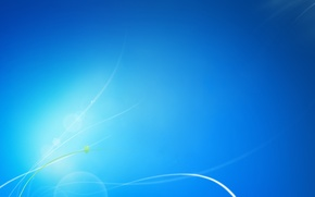 Обои Windows, синий, линии, голубой, seven