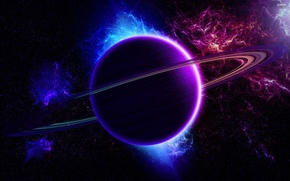 Картинка colors, planet, effects, sci fi