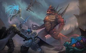 Обои starcraft, diablo, warcraft, Demon Hunter, sarah kerrigan, Tyrael, Heroes of the Storm, Brightwing, Valla