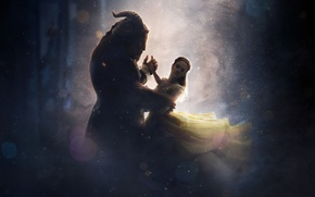 Обои magic, Beauty And The Beast, Kyle Kingson, Bela, faun, fairy tale, Adam, romance, lion, fantasy, ...