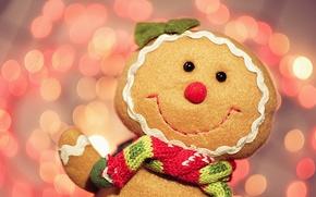 Картинка боке, украшения, рождество, новый год, праздники