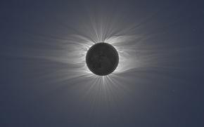 Обои полное солнечное затмение; фото Miroslav Druckmuller, Total Solar Eclipse, Peter Aniol, Vojtech Rusin