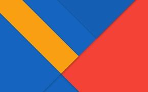Картинка линии, синий, Android, Lollipop, красный.желтый
