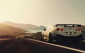 Картинка скорость, трасса, Nissan, Nismo