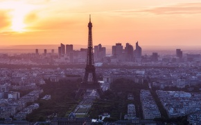 Картинка город, утро, Paris