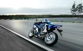 Обои асфальт, спорт, скорость, мотоцикл, гонки