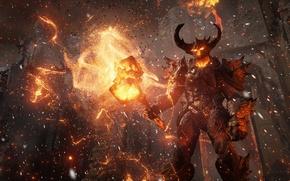 Картинка игра, демон, арт, Unreal Engine 4