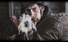 Картинка война, цель, арт, снайпер, драма, немец, враг, Спасти рядового Райана, Saving Private Ryan