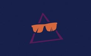 Картинка очки, Треугольник, Ray-Ban, треугольник в очках, shiftreset, очки Ray-Ban