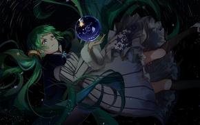 Картинка шарик, аниме, арт, девочка, Vocaloid, мелодия