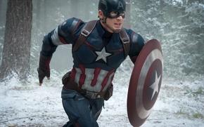 Картинка Hero, Wood, Winter, the, Snow, Wallpaper, Captain America, Super, Boy, MARVEL, Weapons, Walt Disney Pictures, …