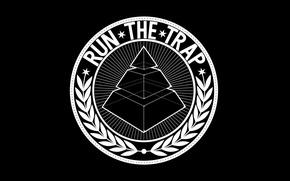 Картинка Минимализм, Белый, Пирамида, Обои, Чёрный, Логотип, Black, White, Wallpapers, Minimalism, Музыкальный Жанр, Trap, Logotype, Pyramid, …