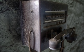 Картинка паутина, пыль, телефон