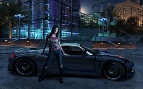 Картинка девушка, игра, тачка, Carbon, Need for Speed