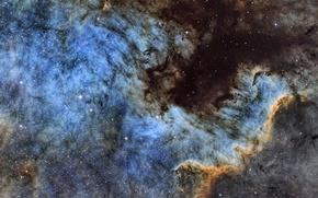 Картинка космос, звёзды, Туманность, созвездие, мироздание