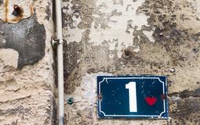 Картинка wall, heart, sign, number 1