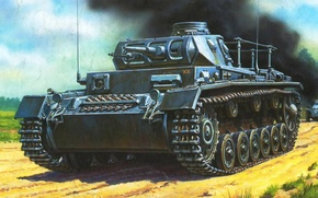 Картинка Panzerkampfwagen III, немецкий средний танк, PzKpfw III, Sd.Kfz. 141