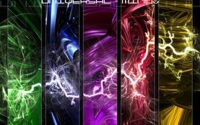 Обои яркий, стиль, стихия, вселенная, стихии, вселенская, молнии, универсальное мышление, молния, мысль