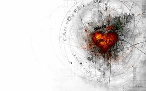 Картинка любовь, линии, сердце