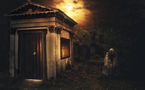 Обои склеп, смерть, кладбище