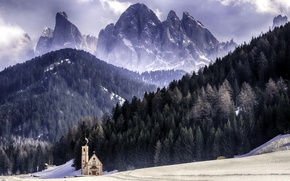 Картинка italia, santa, maddalena, parco naturale puez-odle, dolomiti, val di funes