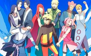 Картинка аниме, сакура, арт, Наруто, Naruto, родители, Саке