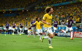 Картинка Футбол, Бразилия, Football, Sport, David Luiz, Футболист, Brasil, ФИФА, FIFA, Игрок, Давид Луис, World Cup …