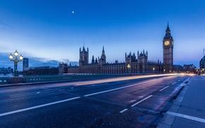 Картинка мост, огни, Лондон, London