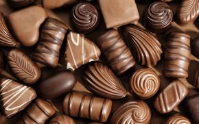 Картинка шоколад, конфеты, сладости, десерт, сладкое, ассорти