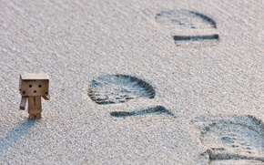 Картинка пляж, следы, danbo