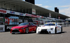 Обои авто, Lexus, red, white, cars, лексус, two, track