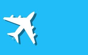 Картинка самолет, фон, минимализм
