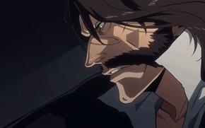 Картинка game, Bleach, anime, man, asian, manga, king, japanese, cloak, god, oriental, asiatic, powerful, strong, mustache, …