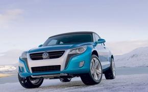 Картинка небо, лёд, Volkswagen, залив, Concept A