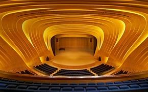 Картинка кресла, балкон, Азербайджан, Баку, концертный зал, Центр имени Гейдара Алиева