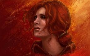 Обои рыжая, Ведьмак, The Witcher, чародейка, Трисс Меригольд, Triss Merigold, witchess, Wiedźmin