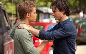 Обои Ian Somerhalder, Иен Сомерхолдер, актер, The Vampire Diaries, Пол Уэсли, Damon Salvatore, Paul Wesly, Stefan ...