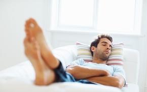 Картинка bed, sleeping, feet