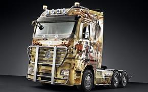 Картинка Мерседес, грузовик, mercedes-benz, 2660 ls, актрос, actros, truck n roll edition