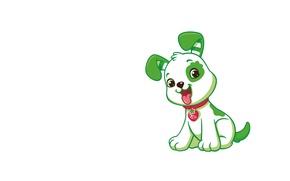Картинка арт, щенок, собачка, детская